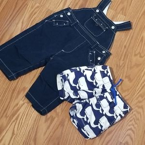 Baby gap overalls and swim trunks 6-12mo